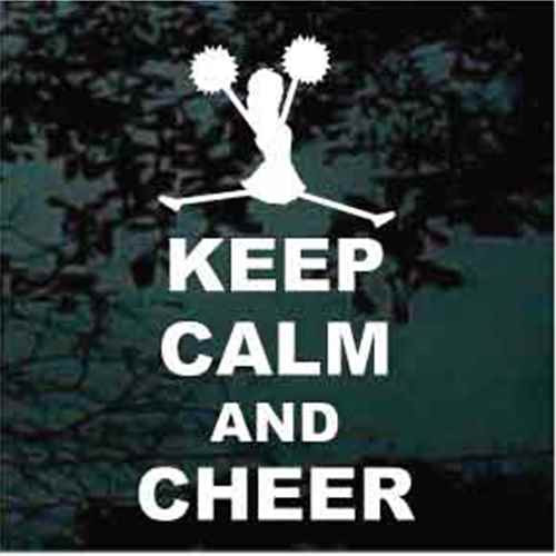 Keep Calm And Cheer Decals