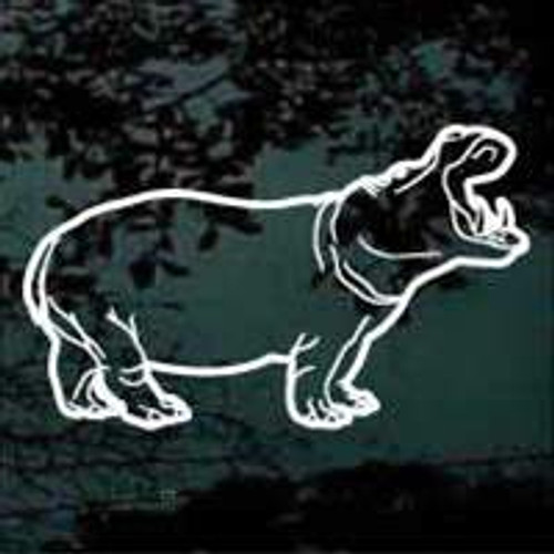Wild Hippopotamus Decal
