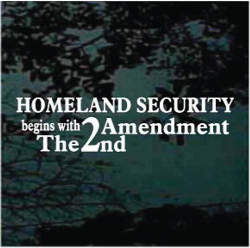 Homeland Security 2nd Amendment Window Decals