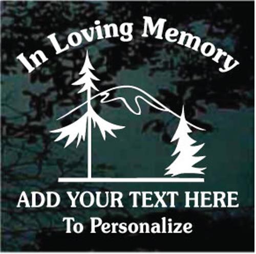 Mountain Scene Memorial Decals