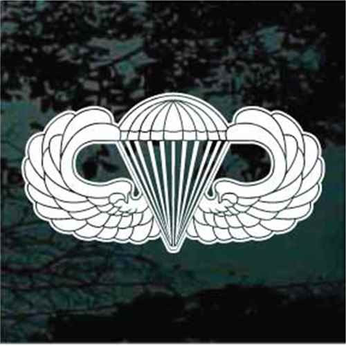 United States Paratroopers Logo Window Decals