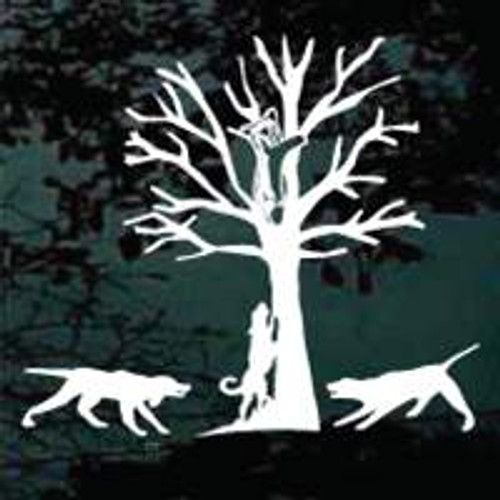 Bayed Bear In Tree Window Decals