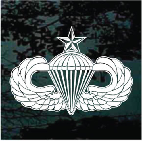 Army Airborne Senior Parachutist Badge Window Decal