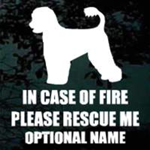 Portuguese Water Dog 02 Fire Rescue Window Decal