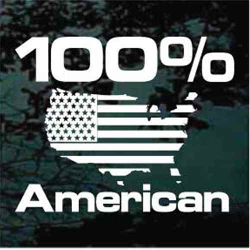 100% American United States Flag Decals