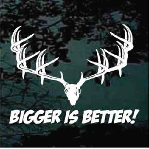 Bigger Is Better Monster Buck Window Decals