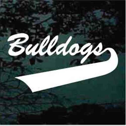 Bulldogs Sports Tail Window Decals