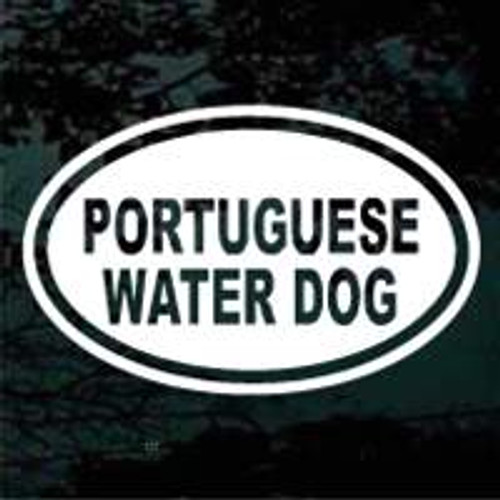 Portuguese Water Dog Oval Decals
