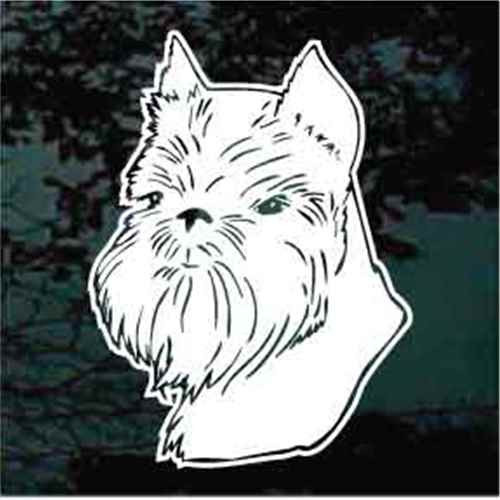 Brussels Griffon Head Window Decal