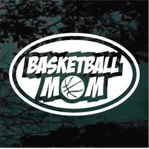 Basketball Mom Oval Decals