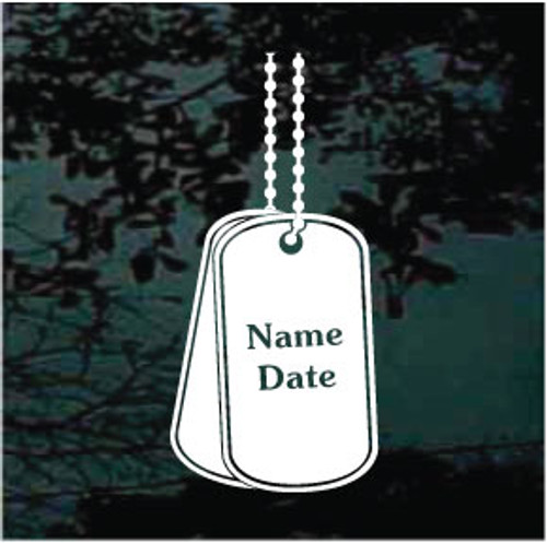 Dog Tags Decals