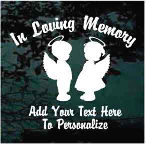 Boy and Girl Angel In Loving Memory Decals