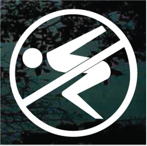 No Diving Symbol Decals