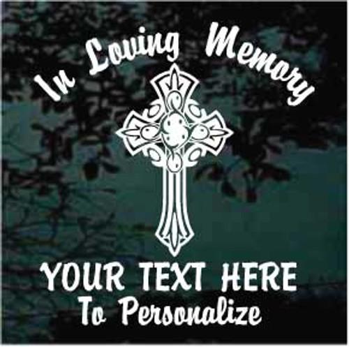 Decorative Cross Memorial Decals