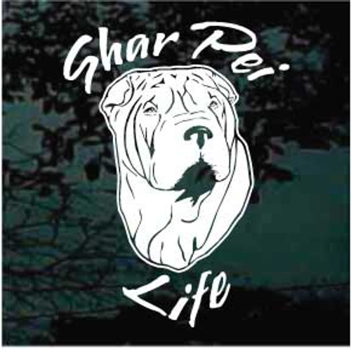 Shar Pei Life Window Decal