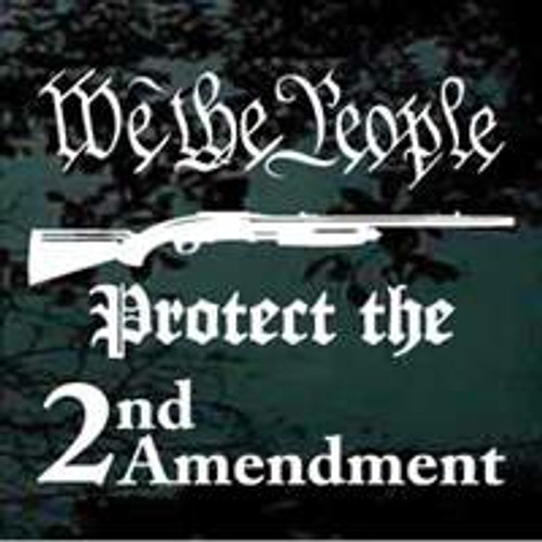 We the People Protect the 2nd Amendment Window Decals
