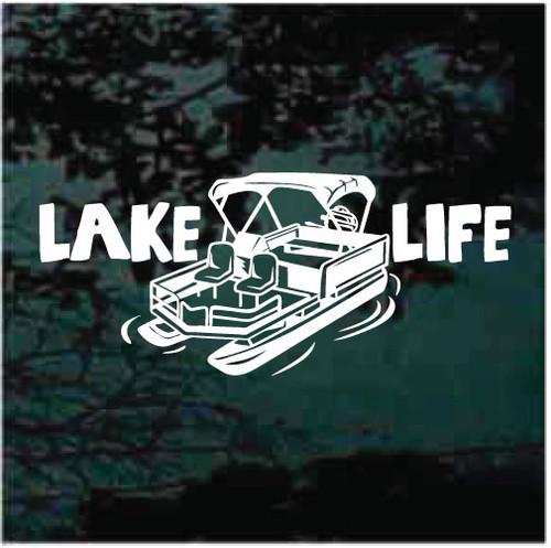 Lake Life Pontoon Boat Decals