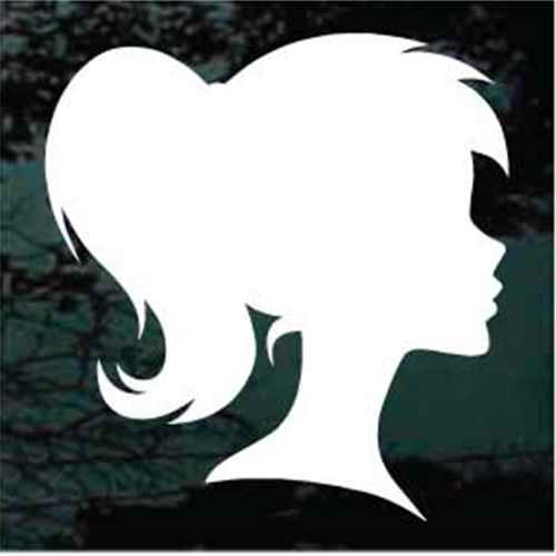 Girl Ponytail Silhouette