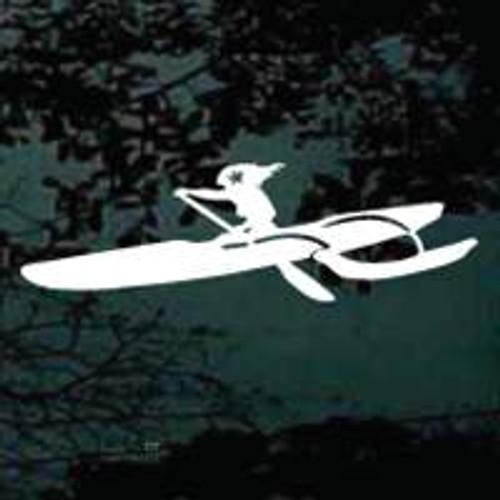 Girl Surf skiing Window Decal