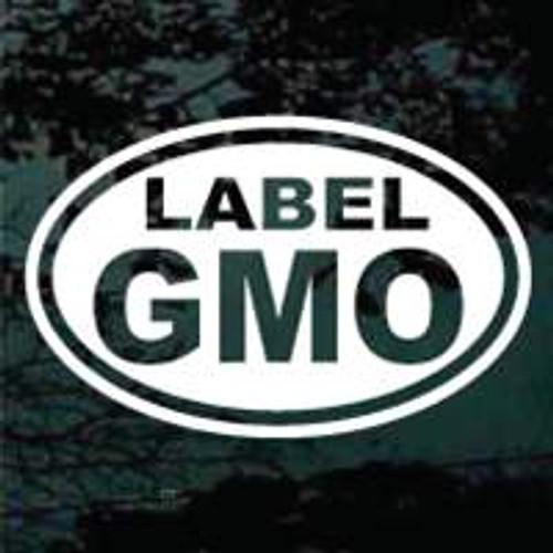Label GMO Oval
