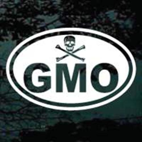 GMO Skull Crossbones Oval