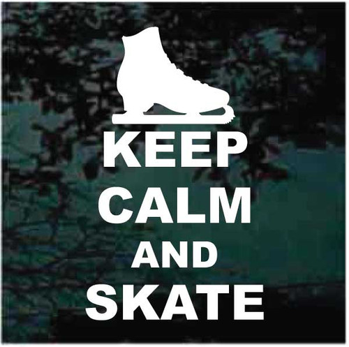 Keep Calm & Skate Ice Skating Decals