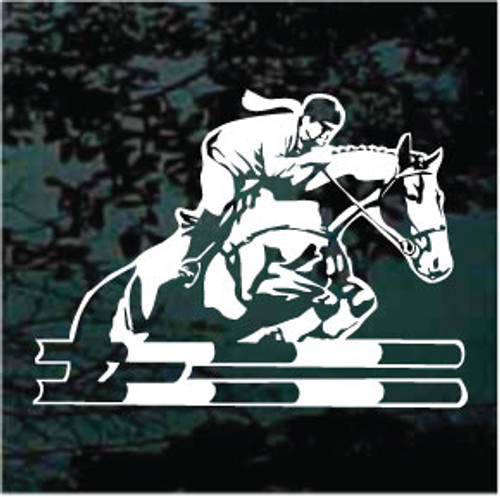 Girl Horse Jumping Decals