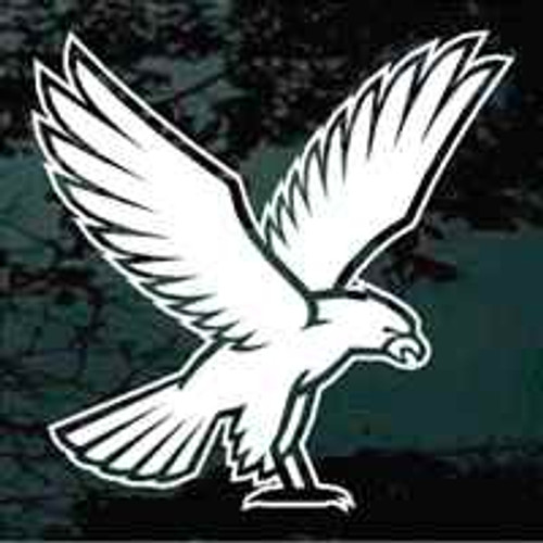 Falcons Mascot Window Decal