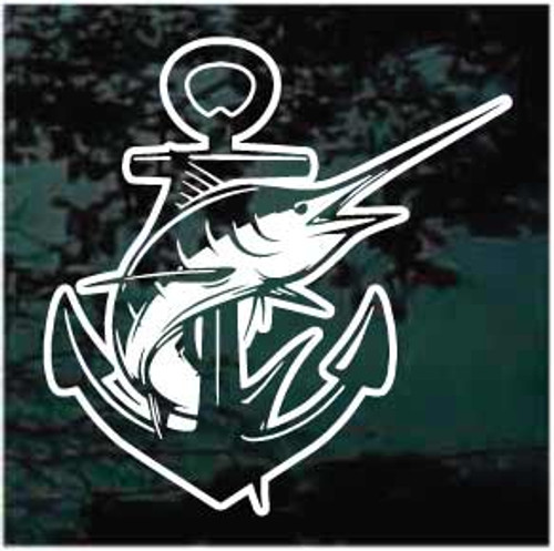 Marling Boat Anchor Window Decals