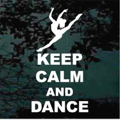 Ballet Dancer Keep Calm And Dance Decals