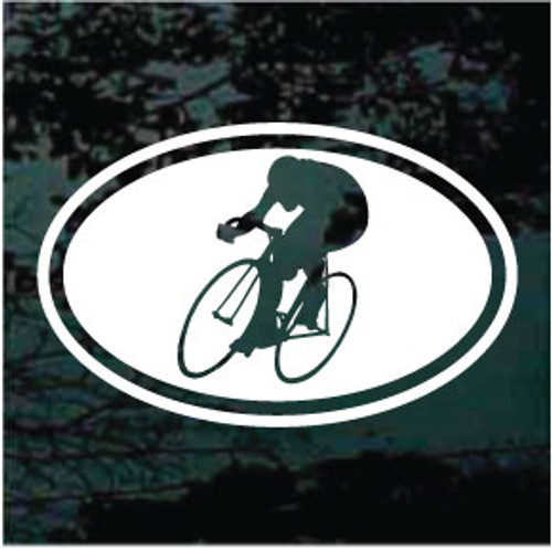 Oval Cycling Decals