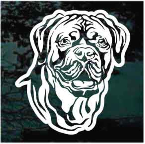 Sweet Dogue de Bordeaux Head Window Decals