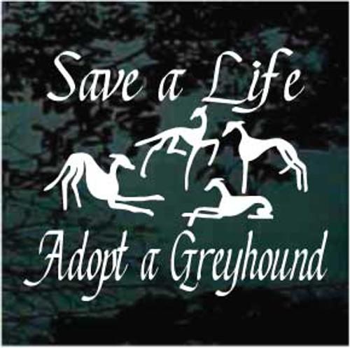 Save A Life Adopt A Greyhound Decals