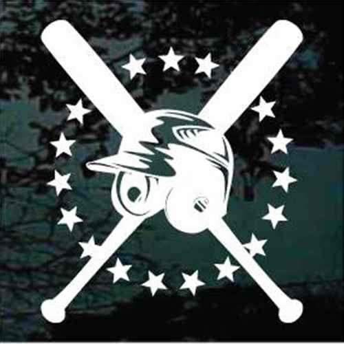 All-Stars Baseball Bats & Helmet Window Decals