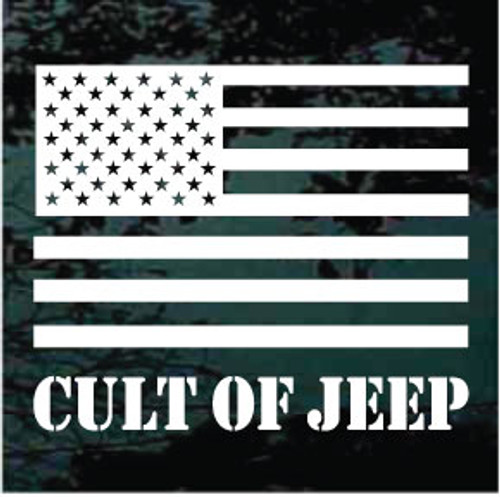 Cult of Jeep American Flag Window Decals