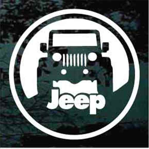 Round Jeep Decals