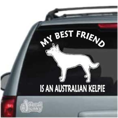 Best Friend Australian Kelpie Car Window Decal