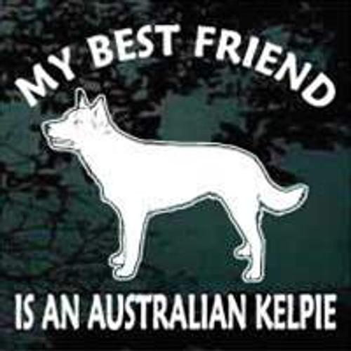 Best Friend Australian Kelpie Decal