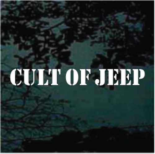 Cult of Jeep Text Window Decals