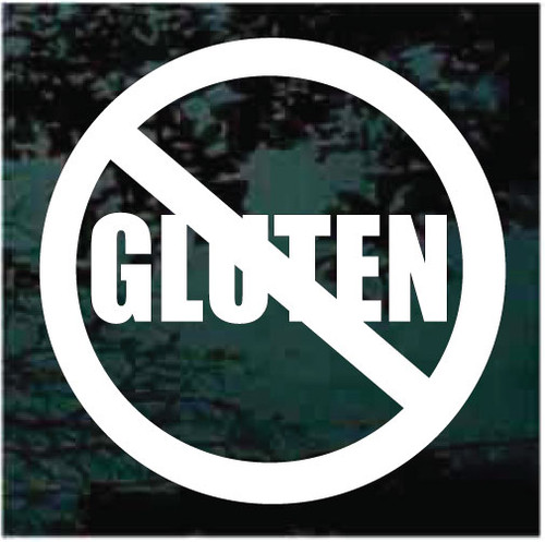 No Gluten Allergy Window Decals