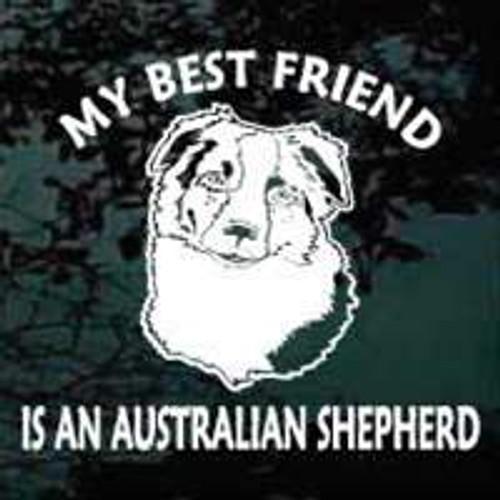Best Friend Australian Shepherd Head Decals