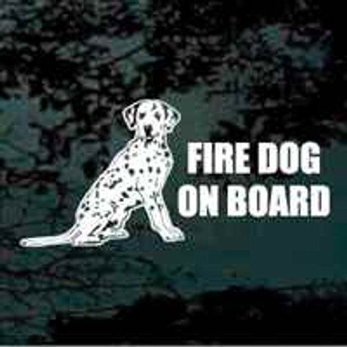 Dalmatian Fire Dog On Board