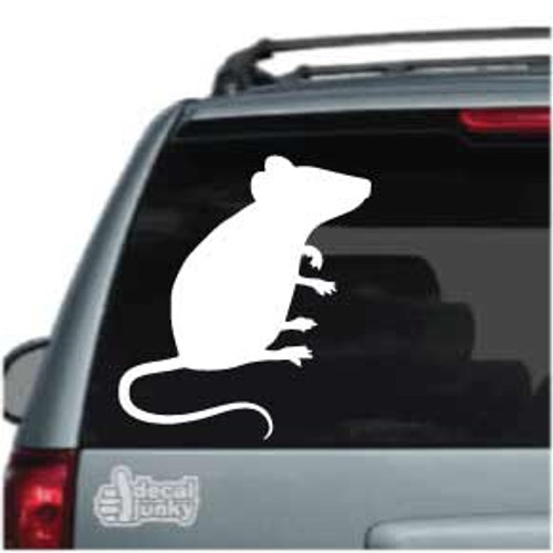 Mouse Sitting Silhouette Car Decals