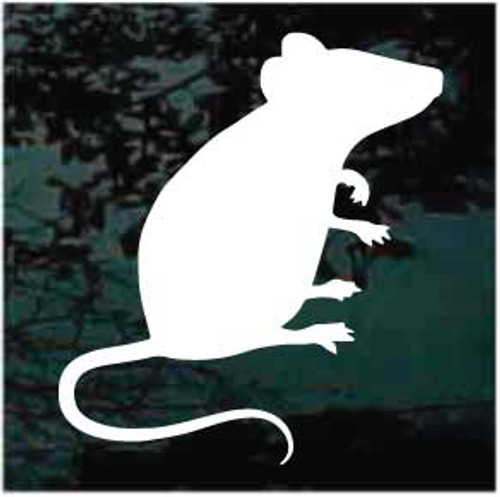 Mouse Sitting Silhouette Window Decals
