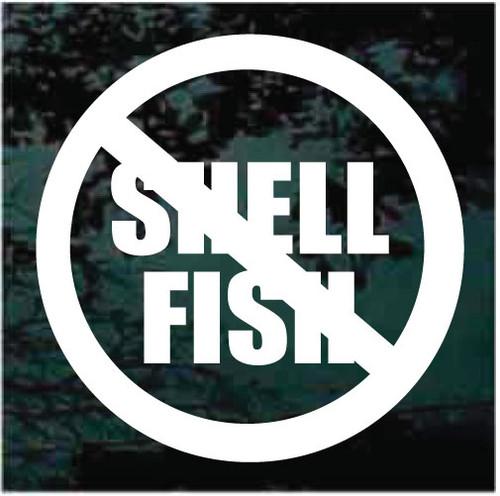 Shellfish Allergy Warning Window Decals