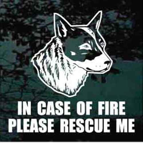 Fire Rescue Australian Cattle Dog Head Window Decal