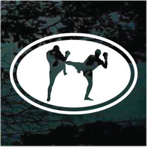 Kickboxing Oval Decals
