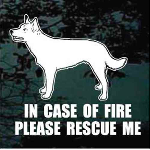 Fire Rescue Australian Kelpie Standing Decal