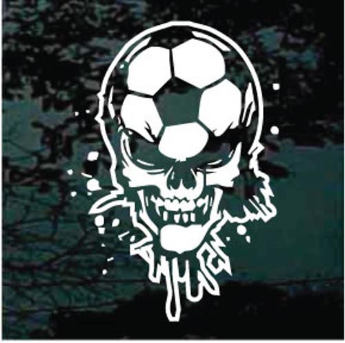 Soccer Skull Decals