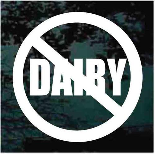 No Dairy Allergy Sign Decals